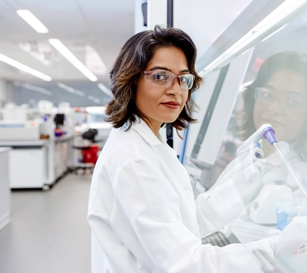 Mili Mandal, an Oncology Scientist in the lab in Philadelphia USA